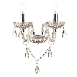 Raphael Double Wall Bracket - Champagne Crystal