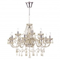 Raphael 12 Light Chandelier - Champagne Crystal