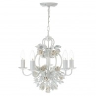 Saskia 5 Light - Pendant Gloss White