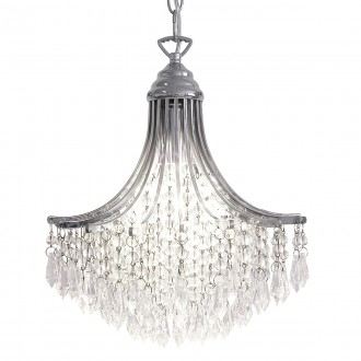Suri 1 Light Pendant - Crystal Polished Chrome