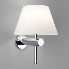 Roma Polished Chrome Bathroom Wall Light