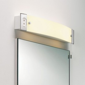 2 Light Switched Shaver Light Polished Chrome