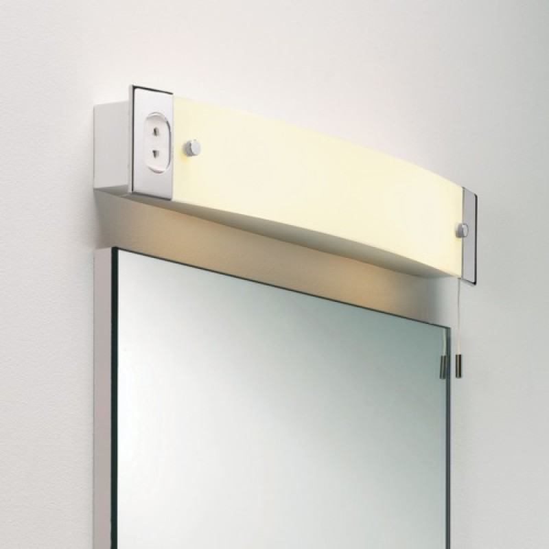 2 Light Switched Shaver Light Polished Chrome