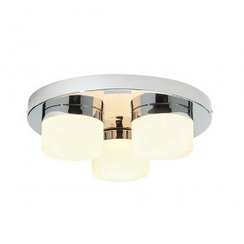 Pure 3lt flush IP44 28W semi flush - chrome plate