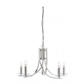 Radial 5 Light - Satin Silver