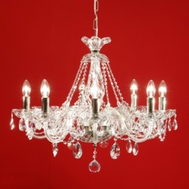 Kolin 8 Chandelier Gold Trim