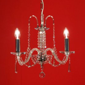 Liberec 3 Chandelier - Clear