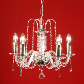 Liberec 5 Chandelier - Clear