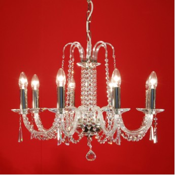 Liberec 8 Chandelier - Clear