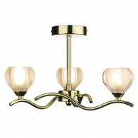 Palermo 3 Light - Semi Flush - Polished Brass