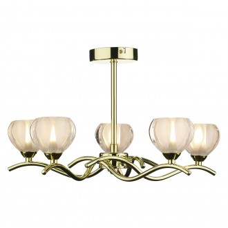 Palermo 5 Light - Semi Flush - Polished Brass