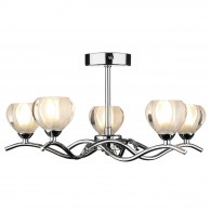 Palermo 5 Light - Semi Flush - Polished Chrome