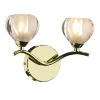 Palermo Double Wall Bracket - Polished Brass