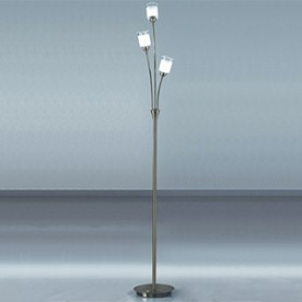 SALERNO FLOOR LAMP SATIN AND CHROME