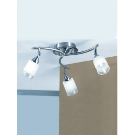 SALERNO CEILING 3LT SATIN AND CHROME