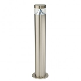 Pyramid post IP44 3.3W daylight white floor - brushed stainless steel