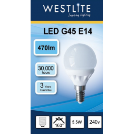 WESTLITE Golf Ball G45 E14 - Dimmable