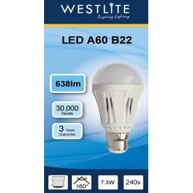 WESTLITE GLS A60 B22 (11.8w/100w)