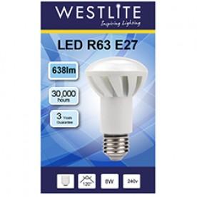 WESTLITE R63 E27 8W LED