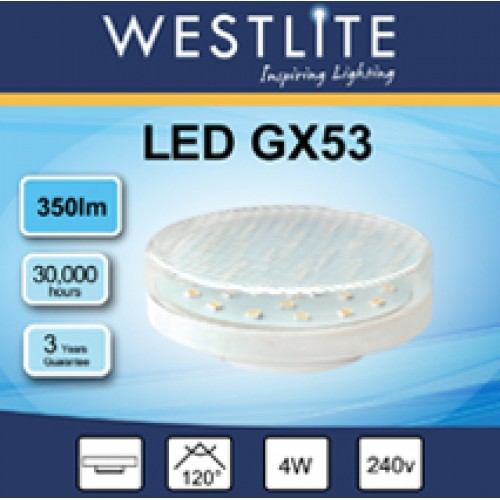 GX53 4W - Natural White