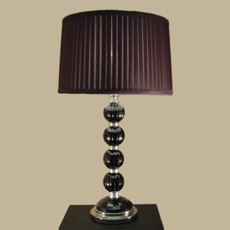 Merin Crystal Lamp - Black