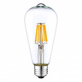 Westlite Lamp - ST58 Clear 6.5W Es Dimmable