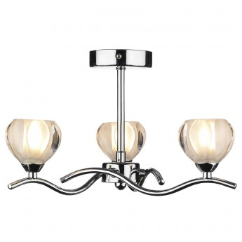 Palermo 3 Light - Semi Flush - Polished Chrome