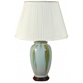 TL133F - Blue Green Glaze Table Lamp Complete