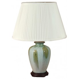 TL365F - Light Blue Green Table Lamp Complete