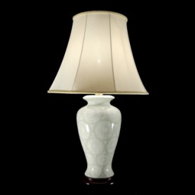 TL4211-6997 - Pale Sage Green & White With Table Lamp Complete