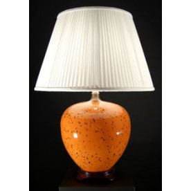 TL7006 - Orange With Dots Table Lamp Complete