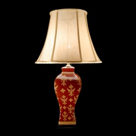 TL7021 - Red Terracotta Glaze Table Lamp Complete
