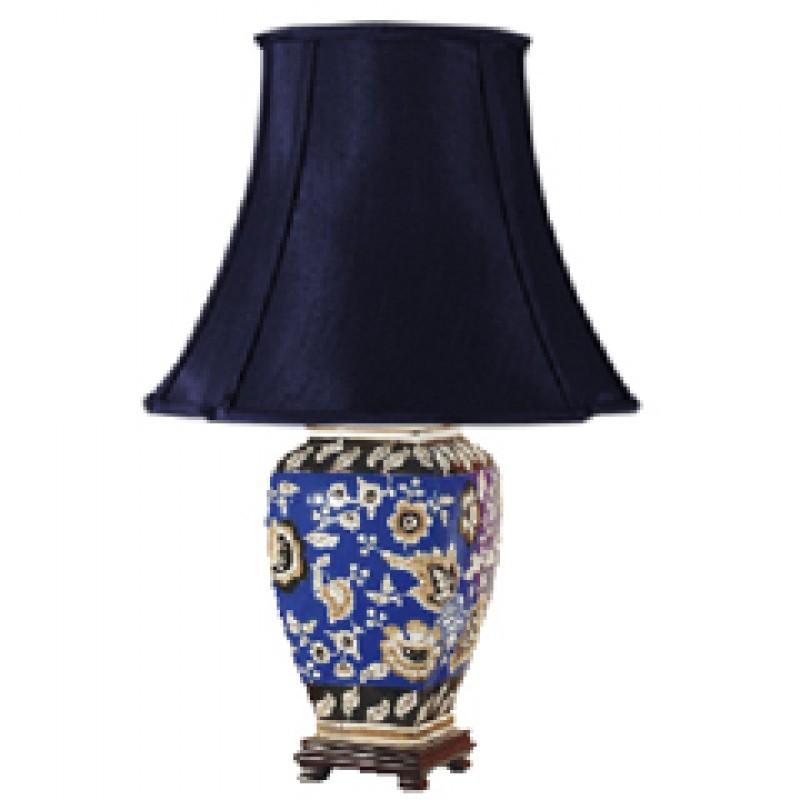 TL7096 - Cobalt Blue Floral Lamp