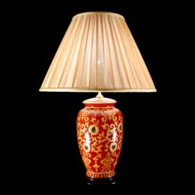 TL748 - Red Oxide Decorated Lamp