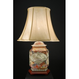 TL0120 - Hand Painted Chines Design Table Lamp Complete
