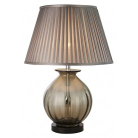 TL1423 - Transparent Tinted Brown Table Lamp Complete