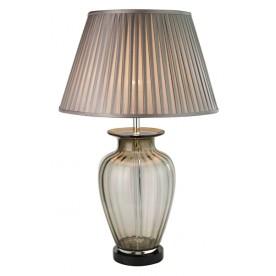 TL1424 - Transparent Tinted Brown Table Lamp Complete