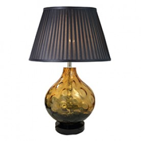 TL1431 - Transparent Tinted Yellow Table Lamp Complete