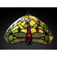 Green Dragonfly Tiffany Shade 16""