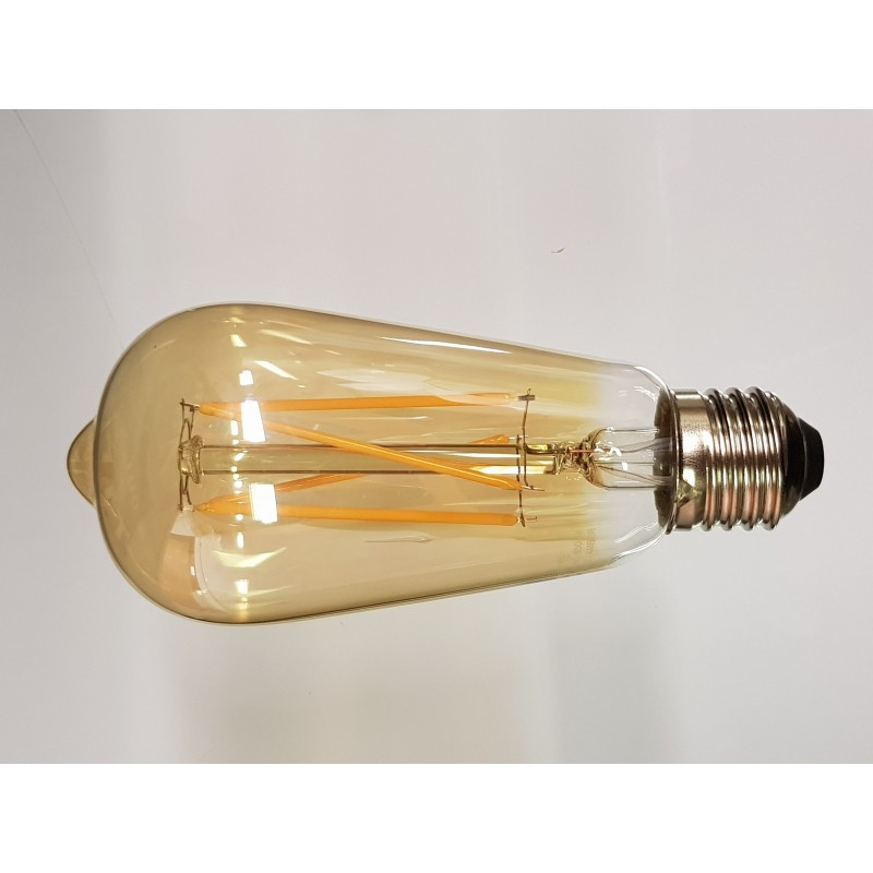 Westlite Lamp - ST58 Amber 6.5W Es Dimmable