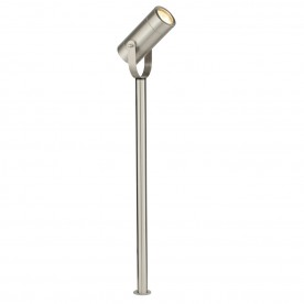 Palin 610mm spike IP44 7W floor - brushed stainless steel