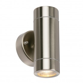 Palin 2lt wall IP44 7W - brushed stainless steel