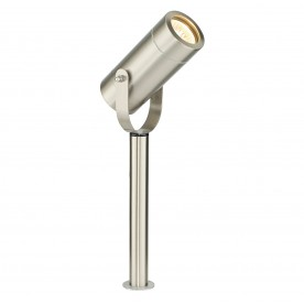 Palin 310mm spike IP44 7W floor - brushed stainless steel