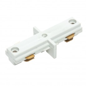Track internal connector accessory - white abs plastic