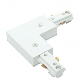 Track l connector accessory - white abs plastic