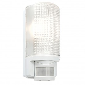 Motion PIR 1lt wall IP44 60W - frosted pc
