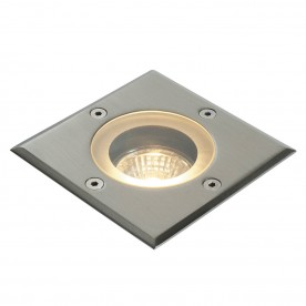 Pillar square marine grade IP65 50W recessed - marine grade brushed stainless steel