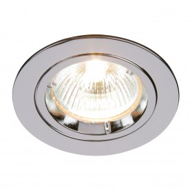 Cast fixed 50W recessed - chrome plate