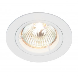 Cast fixed 50W recessed - gloss white