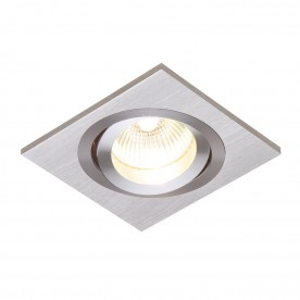 Tetra single 50W recessed - brushed silver anodised